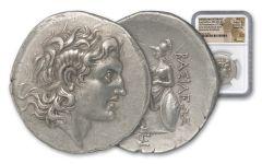 Ancient Circa 260 B.C. Lysimachus Silver Tetradrachm of Thrace NGC AU