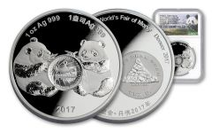 2017 1-oz Silver Panda Denver ANA NGC PF70UC