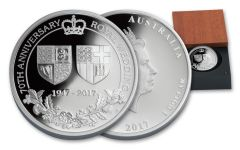 2017 Australia 1 Dollar 1-oz Silver 70th Anniversary Royal Wedding Proof