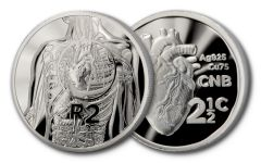 2017 South Africa Silver Heart Transplant 2-piece Proof Set