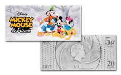 2017 Niue 5-Gram Silver Mickey Mouse & Friends Foil Note
