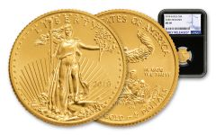 2018 5 Dollar 1/10-oz Gold Eagle NGC MS69 Early Releases - Black