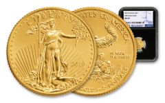 2018 5 Dollar 1/10-oz Gold Eagle NGC MS69 First Releases - Black