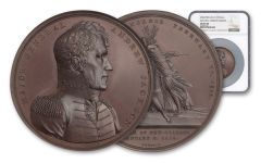 1815 Copper Andrew Jackson High Relief Medal NGC MS65BN