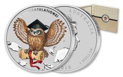 2018 Australia 1 Dollar 1-oz Silver Graduation BU