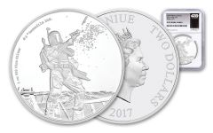 2017 Niue 1-oz Silver Star Wars Boba Fett NGC PF70UCAM