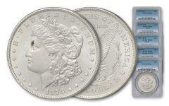 1878 Morgan Silver Dollar Variety PCGS MS63 5pc