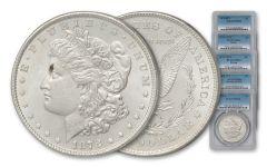 1878 Morgan Silver Dollar Variety PCGS MS64 5pc