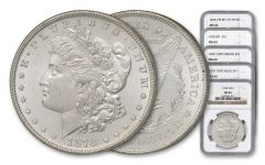 1878 Morgan Silver Dollar NGC MS64 5pc Set
