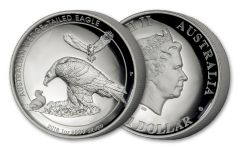 2018 Australia 1 Dollar 1-oz Silver Wedge Tailed Eagle High Relief Proof