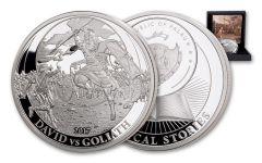 2017 Palau 2 Dollar 1/2-oz Silver David vs Goliath Proof