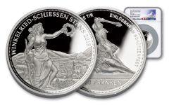 2018 Switzerland 100 Francs 5-oz Silver Shooting Thaler NGC PF69UCAM
