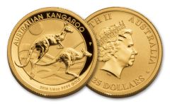 2018 Australia 1/4-oz Gold Kangaroo Proof