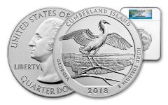 2018-P Cumberland Island National Seashore 5-oz Silver America the Beautiful NGC SP70 FR