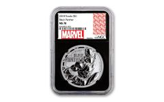 2018 Tuvalu $1 1-oz Silver Black Panther NGC MS70 w/Black Core