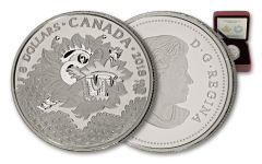 2018 Canada 8 Dollar 1/4-oz Silver Dragon Luck Matte Proof