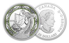 2018 Canada 20 Dollar 1-oz Silver Norse Northern Fury Proof