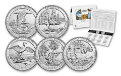 2018 America The Beautiful Quarters Uncirculated Coin Set