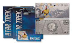 2018 Niue 1 Dollar 5 Gram Silver Star Trek Captain Kirk Coin Note
