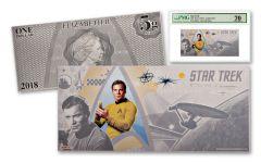 2018 Niue 1 Dollar 5 Gram Silver Foil Star Trek Captain Kirk PMG 70
