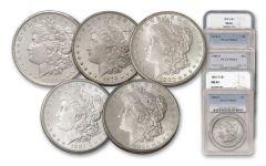 1878-1882-S Morgan Silver Dollar NGC/PCGS MS64 5pc