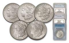 1878-1882-S Morgan Silver Dollar NGC/PCGS MS65 5pc
