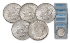 1884-1888-P Morgan Silver Dollar NGC/PCGS MS64 5pc Set