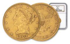 1903-S 5 Dollar Gold Liberty NGC AU50 GSA