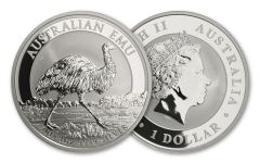 2018 Australia 1 Dollar 1-oz Silver Emu Uncirculated BU
