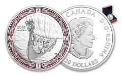 2018 Canada 1-oz Silver Norse Figure Voyage Proof