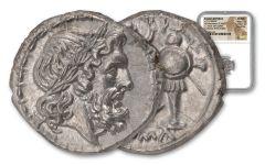 211–208 B.C. Ancient Roman Victoriatus NGC Choice Mint State Fine Style