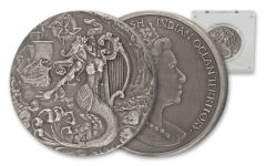 2018 British 2 Ounce Silver Mythical Creatures Siren High Relief Proof with Antique Finish
