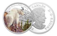 2018 Canada 20 Dollar 1-oz Silver Mettlesome Mountain Goat Proof