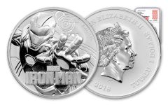 2018 Tuvalu 1 Dollar 1-oz Silver Iron Man NGC MS70 First Releases