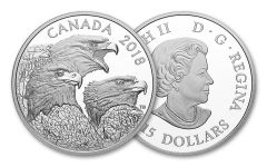 2018 Canada Magnificent Bald Eagles 1-oz Silver Proof