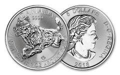2018 Canada 5 Dollar 1-oz Silver Predator Series - Wolf BU