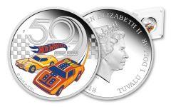 2018 Tuvalu 1 Dollar 1-oz Silver Hot Wheels 50th Anniversary Proof