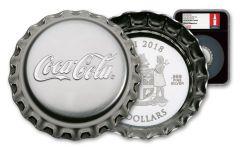 2018 Fiji 1 Ounce $2 Silver Coca-Cola Bottle Cap NGC PF69UC FDI Black Core