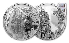 2017 Great Britain 2 Pound 1-oz Silver Landmarks of Britain - Big Ben NGC PF70