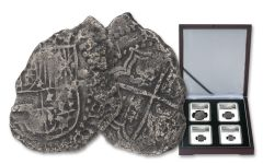 1556-1743 Spain Princess Louisa Shipwreck Silver Reales 4-piece Set NGC Genuine - Salvor's Reserve Hoard