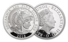 2018 Great Britain One-Ounce Silver Britannia Proof