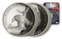 2018 Australia $8 Silver Wedge-Tailed Eagle 5-oz Silver High Relief Proof NGC PF69 FR Mercanti Signed