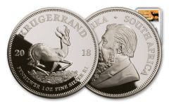2018 South Africa 1-oz Silver Krugerrand NGC PF69UC First Releases - Springbok Label