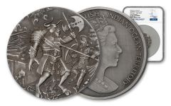 2018 BIOT 2-oz Silver Minotaur Mythical Creatures High Relief Antiqued NGC PF69 Early Releases