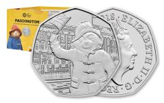 2018 Great Britian 50 Pence 8-Gram Cupro-Nickel Paddington at Buckingham Palace BU