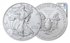 2017-(P) 1 Dollar 1 Ounce Silver Eagle Struck At Philadelphia NGC MS69 First Day Of Issue