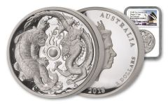 2018 Australia $2 2-oz Silver Tiger and Dragon High Relief PF69UC First Releases