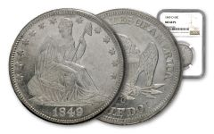 1849-O Seated Liberty Half Dollar NGC MS60 PL