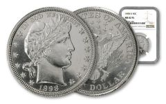 1898-O Barber Half Dollar NGC MS62 PL