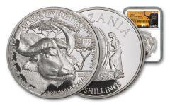 2018 Tanzania 1-Ounce Silver Buffalo Serengeti Big 5 NGC PF69UC - Serengeti Label